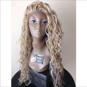 Custom ash blonde wig free part 💕